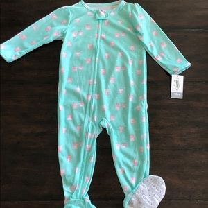 NEW adorable mint owl cotton footie (3/$10)